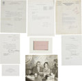 Autographs:Statesmen, Eleanor, Elliott, James, and Anna Roosevelt: Collection of SignedMaterial.. -1934-1969, various dates and places. Various s...(Total: 7 Items)