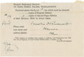 "Autographs:U.S. Presidents, Franklin D. Roosevelt: Book Order Form Filled Out and Signed.. -Nodate [1926]. Marion, Massachusetts. One page. 6"" x 4"", or..."