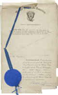 Autographs:U.S. Presidents, Franklin D. Roosevelt: Legal Document Signed as Acting Secretary ofthe Navy Concerning a Lawsuit.. -March 5, 1915. Washingt... (Total:2 Items)