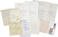 Autographs:Statesmen, Franklin D. Roosevelt: Sons Signature Archive.. -Elliot Rooseveltthree typed letters signed and dated July 28, 1949, Oc... (Total:13 Items)