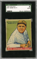 Baseball Cards:Singles (1930-1939), 1933 Goudey Babe Ruth #181 SGC Authentic....