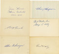 Autographs:Index Cards, Baseball Hall of Famers Signed Index Cards and Cut Signatures Lotof 17....