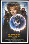 """Movie Posters:Fantasy, Labyrinth (Tri-Star, 1986). One Sheet (27"""" X 41"""") Advance, andAutographed Program (Multiple Pages). Fantasy.... (Total: 2 Items)"""