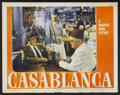 "Movie Posters:Drama, Casablanca (Warner Brothers, 1942). Lobby Card (11"" X 14"").Drama...."