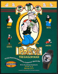 "Movie Posters:Animated, Popeye and Batman Lot (Fossil Watches, 1994). Posters (2) (22"" X 28""). Animated.... (Total: 2 Items)"
