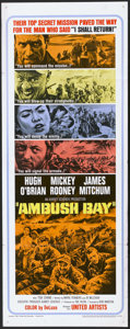 "Movie Posters:War, Ambush Bay (United Artists, 1966). Insert (14"" X 36""). War...."