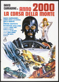 "Movie Posters:Cult Classic, Death Race 2000 (New World, 1975). Italian 2 - Folio (39"" X 55"").Cult Classic...."