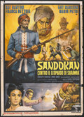 "Movie Posters:Adventure, Sandokan Against the Leopard of Sarawak (Columbia, 1964). Italian 2- Folio (39"" X 55""). Adventure...."