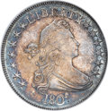 Early Half Dollars, 1807 50C Draped Bust AU55 NGC....