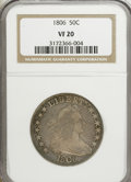 Early Half Dollars: , 1806 50C Pointed 6, Stem VF20 NGC. NGC Census: (55/775). PCGSPopulation (59/594). Mintage: 839,576. Numismedia Wsl. Price ...