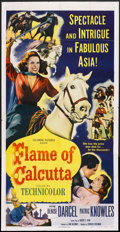 "Movie Posters:Adventure, Flame of Calcutta (Columbia, 1953). Three Sheet (41"" X 81"").Adventure...."