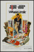 "Movie Posters:James Bond, Live and Let Die (United Artists, 1973). Autographed One Sheet (27""X 41""). James Bond...."