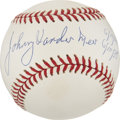 Autographs:Baseballs, Johnny Vander Meer Single Signed Baseball. ...