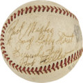 Autographs:Baseballs, Bob Feller Single Signed Baseball Personalized to Gabby Street....