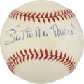 "Autographs:Baseballs, Stan ""The Man"" Musial Singled Signed Baseball. ..."