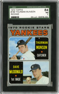 Baseball Cards:Singles (1970-Now), 1970 Topps Yankees Rookies Thurman Munson #189 SGC 84 NM 7....