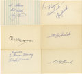 Autographs:Index Cards, Baseball Hall of Famers Signed Index Cards Lot of 18....