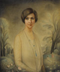 Fine Art - Painting, Russian:Modern (1900-1949), SIMKHA SIMKOVITCH (Russian, 1893-1949). Portrait of a Lady, 1927. Pastel. 30 x 25 inches (76.2 x 63.5 cm). Signed and da...