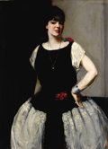 Fine Art - Painting, Russian, MAURICE MOLARSKY (Russian/American, 1885-1950). Miss IreneBordoni. Oil on canvas. 51-1/2 x 38 inches (130.8 x 96.5 cm)...