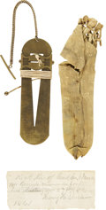 Military & Patriotic:Civil War, Very Rare Civil War Stadia Sight Presented in 1861 by Gen. George G. Meade as a Marksmanship Award. These instruments, used ...