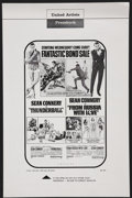 Movie Posters:James Bond, Thunderball/From Russia with Love Combo Lot (United Artists, 1968). Pressbooks (3) (Multiple Pages). James Bond.... (Total: 3 Items)