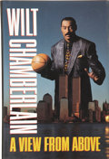 Basketball Collectibles:Others, Wilt Chamberlain Signed A View from Above Book....