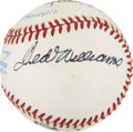 Autographs:Baseballs, 1988 Hall of Fame Induction Multi-Signed Baseball with TedWilliams. ...