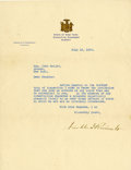 """Autographs:U.S. Presidents, Franklin D. Roosevelt: Typed Letter Signed as New York Governor..-July 19, 1929. Albany, New York. One page, 8"""" x 10.5"""". St..."""