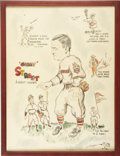 Baseball Collectibles:Others, Gabby Street Illustration From 1936....