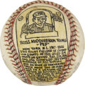Baseball Collectibles:Others, George Sosnak Folk Art Baseball, Ross Youngs....