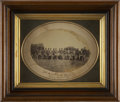 "Military & Patriotic:Civil War, Oval Albumen View, 7"" x 5"", of the ""30th Maine Drum Corps Taken May 22, 1865"", which is the period ink ID on the lower m..."