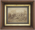 "Military & Patriotic:Civil War, Albumen View, 9"" x 7"", of a Large Group of Federal Infantrymen Casually Posed in the Field. A mixture of NCOs and EM all wea..."