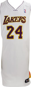 Basketball Collectibles:Uniforms, 2006-07 Kobe Bryant Game Issued Jersey. Tough style is only wornwhen the Los Angeles Lakers play at home on Sunday, and is...