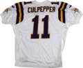 Football Collectibles:Others, Daunte Culpepper Signed Jersey. In 2000 Daunte Culpepper won the starting quarterback spot for his Minnesota Vikings, leadi...