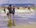 Fine Art - Painting, American:Modern  (1900 1949)  , EDWARD HENRY POTTHAST (American, 1857-1927). A FamilyOuting. Oil on board. 11-1/2 x 16 inches (29.2 x 40.6 cm).Signed ...