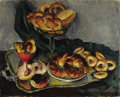 Fine Art - Painting, Russian:Contemporary (1950 to present), NINA LURYEH (Russian, 20th Century). Still Life withPastries. Oil on canvas. 28-1/2 x 35 inches (72.4 x 88.9 cm).Signe...