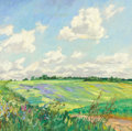 Fine Art - Painting, Russian:Contemporary (1950 to present), ZINAIDA ZATSEPIN (Russian, 1910-1989). Field in Constantinov, 1979. Oil on canvas. 25-1/2 x 27-3/4 inches (64.8 x 70.5 c...