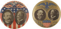 Political:Pinback Buttons (1896-present), Parker & Davis: Stunning Pair of Jugate Campaign Buttons.... (Total: 2 Items)