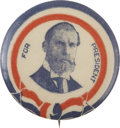 """Political:Pinback Buttons (1896-present), Charles Evans Hughes: A Scarce, Colorful 1¼"""" 1916 Campaign Pinback. Hughes campaign buttons larger than 7/8"""" in size are all..."""