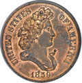 Patterns, 1859 P50C Half Dollar, Judd-246, Pollock-304, Low R.7, PR64 Red and Brown PCGS. CAC....