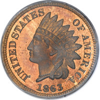 1863 1C One Cent, Judd-299, Pollock-359, R.3, PR64 Red and Brown PCGS. CAC....(PCGS# 70454)