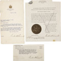 Autographs:U.S. Presidents, Franklin D. Roosevelt: Three Signatures as New York Governor...(Total: 3 Items)