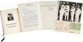 Autographs:Statesmen, Franklin D. Roosevelt Administration Collection.. -Isabelle Wamsleyenvelope with signatures. Wamsley was Louis McHenry Howe... (Total:4 Items)