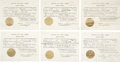 Autographs:U.S. Presidents, Franklin D. Roosevelt: Six Extradition Documents Signed as New YorkGovernor.. -January 14, 1929. Albany, New York. One page... (Total:6 Items)