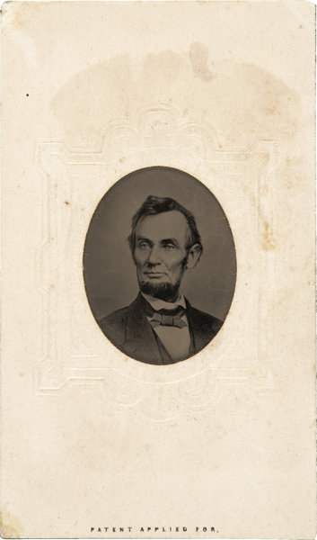 PhotographyTintypes Abraham Lincoln An 1864 Berger Image In Seldom Seen Tintype Form