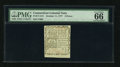 Colonial Notes:Connecticut, Connecticut October 11, 1777 3d Uncancelled PMG Gem Uncirculated 66EPQ....