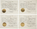 Autographs:U.S. Presidents, Franklin D. Roosevelt: Four Extradition Documents Signed as New York Governor.. -January 19, 1929. Albany, New York. One pag... (Total: 4 Items)