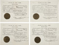Autographs:U.S. Presidents, Franklin D. Roosevelt: Four Extradition Documents Signed as NewYork Governor.. -April 12, 1930. Albany, New York. One page....(Total: 4 Items)