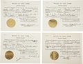 Autographs:U.S. Presidents, Franklin D. Roosevelt: Four Extradition Documents Signed as NewYork Governor.. -July 22, 1931. Albany, New York. One page. ...(Total: 4 Items)