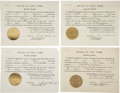 Autographs:U.S. Presidents, Franklin D. Roosevelt: Four Extradition Documents Signed as New York Governor.. -March 13, 1929. Albany, New York. One page.... (Total: 4 Items)